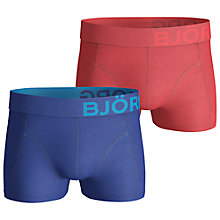 Buy Bjorn Borg Solid Cotton Trunks, Pack of 2, Red/Blue Online at johnlewis.com