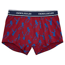 Buy Joules Stag Print Trunks, Red Online at johnlewis.com