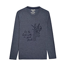 Buy Joules Julian Buxk Long Sleeve Jersey T-Shirt, Navy Marl Online at johnlewis.com