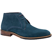 Buy Ted Baker Linnus Chukka Boots, Blue Online at johnlewis.com