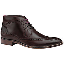 Buy Ted Baker Pericop High Shine Brogue Chukka Boots Online at johnlewis.com