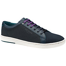 Buy Ted Baker Keeran Textile Cup Sole Trainers Online at johnlewis.com