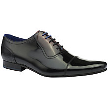 Buy Ted Baker Reidar Two Tone Leather Oxford Shoes, Black/Red Online at johnlewis.com