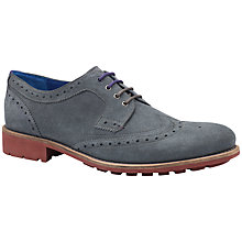 Buy Ted Baker Hontarr Suede Wingtip Derby Brogues, Grey Online at johnlewis.com