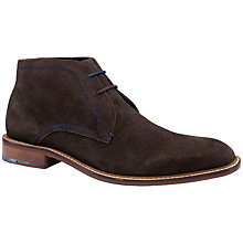 Buy Ted Baker Torsdi Suede Chukka Boots, Brown Online at johnlewis.com