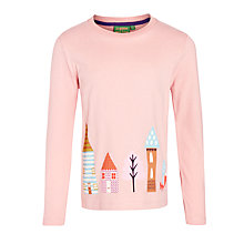 Buy Donna Wilson for John Lewis Girls' Houses T-Shirt, Pink Online at johnlewis.com