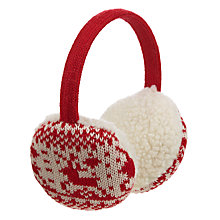 Buy John Lewis Christmas Fair Isle Ear Muffs, Red Online at johnlewis.com