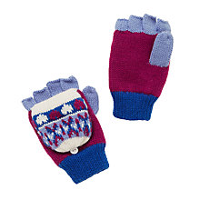 Buy John Lewis Fairisle Flip Top Gloves, Lilac Online at johnlewis.com