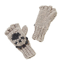 Buy John Lewis Novelty Bear Flip Top Gloves, Brown Online at johnlewis.com