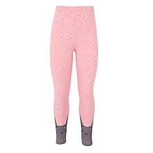 Buy Donna Wilson for John Lewis Girls' Cat Leggings, Pink/Grey Online at johnlewis.com