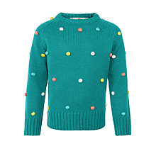 Buy John Lewis Girl Bobble Jumper, Teal Online at johnlewis.com