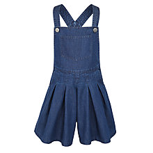 Buy John Lewis Girl Denim Pinafore Shorts, Indigo Online at johnlewis.com