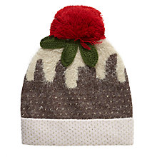 Buy John Lewis Christmas Pudding Hat, Natural/Pink Online at johnlewis.com