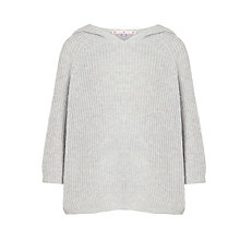 Buy John Lewis Girls' Rib Knit Poncho, Grey Online at johnlewis.com