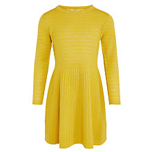 Buy John Lewis Girl Knit Dress, Mustard Online at johnlewis.com