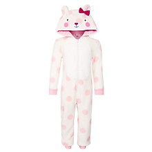 Buy John Lewis Novelty Polar Bear Onesie, White Online at johnlewis.com