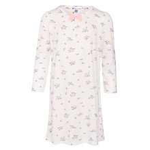 Buy John Lewis Girl Vintage Floral Long Sleeve Nightdress, Cream Online at johnlewis.com