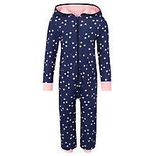 Buy John Lewis Man on the Moon Glow in the Dark Star Print Onesie, Navy Online at johnlewis.com