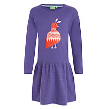 Buy Donna Wilson for John Lewis Bird Motif Sweatshirt Dress, Purple Online at johnlewis.com