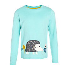 Buy Donna Wilson for John Lewis Girls' Hedgehog T-Shirt, Aqua Online at johnlewis.com