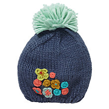 Buy John Lewis Floral Embroidered Beret Hat, Blue Online at johnlewis.com