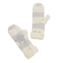 Buy John Lewis Sparkly Star Mitten Gloves, Cream/Grey Online at johnlewis.com