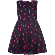 Buy Yumi Girl Cactus Print Dress, Black/Pink Online at johnlewis.com