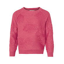 Buy John Lewis Girl Boucle Rose Jumper, Raspberry Online at johnlewis.com