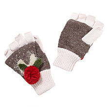 Buy John Lewis Christmas Pudding Gloves, Natural/Pink Online at johnlewis.com