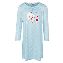 Buy John Lewis Girl Polar Bear Long Sleeve Nightdress, Blue Online at johnlewis.com