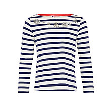 Buy John Lewis Girl Star Stripe Sequin T-Shirt Online at johnlewis.com