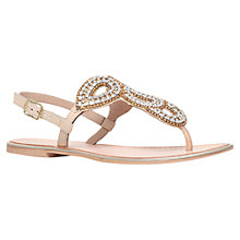 Buy KG by Kurt Geiger Majesty Jewel Embellished Sandals, Nude Leather Online at johnlewis.com