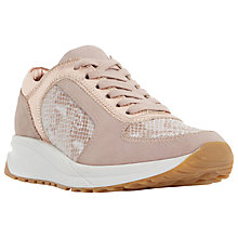 Buy Dune Eddee Trainers, Blush Online at johnlewis.com