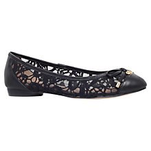 Buy KG by Kurt Geiger Latin Leather Ballerina Pumps, Black Online at johnlewis.com