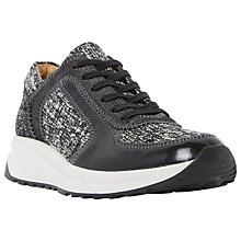 Buy Dune Eddee Trainers, Black Online at johnlewis.com