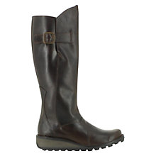 Buy Fly Mol Leather Knee High Boots, Brown Online at johnlewis.com