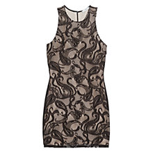 Buy Mango Lace Paisley Dress, Black Online at johnlewis.com