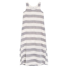 Buy Mango Side Slit Striped Maxi Dress, Black/White Online at johnlewis.com