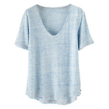 Buy Wrap London Iris Linen T-Shirt Online at johnlewis.com