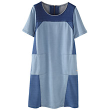 Buy Wrap London Nadia Dress, Denim Blue Online at johnlewis.com