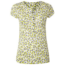 Buy White Stuff Linen Fiji Jersey Shirt, Green Online at johnlewis.com