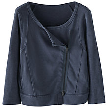 Buy Wrap London Cecily Biker Jacket, Dark Navy Online at johnlewis.com