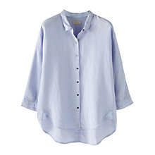 Buy Wrap London Monica Linen Shirt, Lilac Frost Online at johnlewis.com