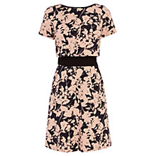 Buy Coast Apple Jacquard Dress, Malibu Dune/Black Online at johnlewis.com