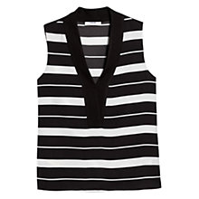 Buy Mango Flowy Striped Blouse, Black/White Online at johnlewis.com