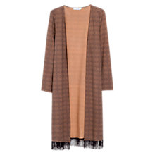 Buy Mango Fringed Printed Kaftan, Chocolate Online at johnlewis.com