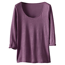 Buy Poetry Linen Scoop Neck Top Online at johnlewis.com