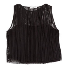 Buy Mango Openwork Top, Black Online at johnlewis.com
