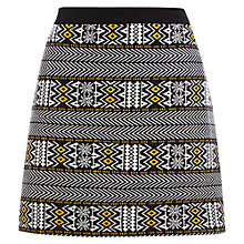 Buy Warehouse Aztec Pattern Jacquard Skirt, Black Online at johnlewis.com