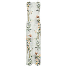 Buy Warehouse Leaf Flower Midi Dress, Cream Online at johnlewis.com